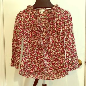 Mid sleeve floral shirt